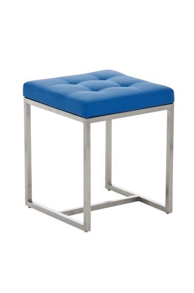 Sitzhocker - BRIT 2 - Hocker Sessel Kunstleder Blau 40x40cm