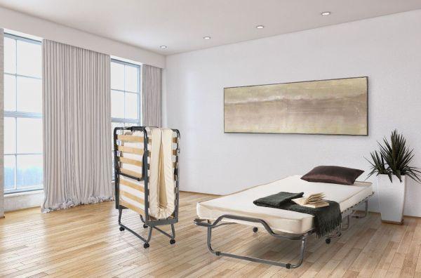 Raumsparbett Gästebett - Sleepers 1 - Komplettset Schwarz 80 x 200 cm