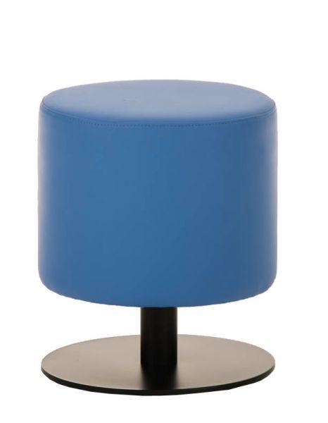 Sitzhocker - Max 2 - Hocker Rundhocker Kunstleder Blau 38x38 cm