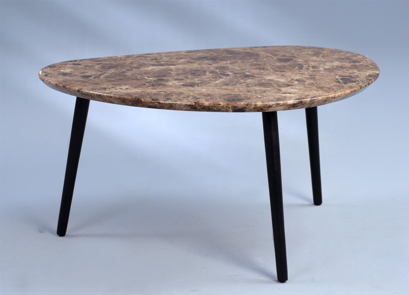 Couchtisch beistelltisch cindy 90x72 cm marmor dunkel for Marmor optik couchtisch