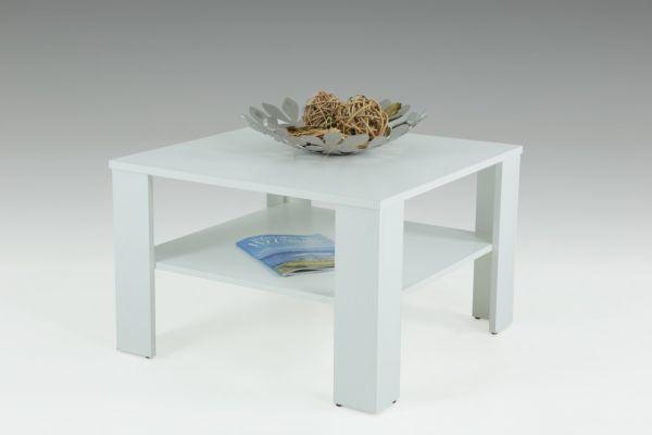 """Couchtisch Tisch """"Loco 2"""" 68x68 cm mit Ablageboden Weiss"""