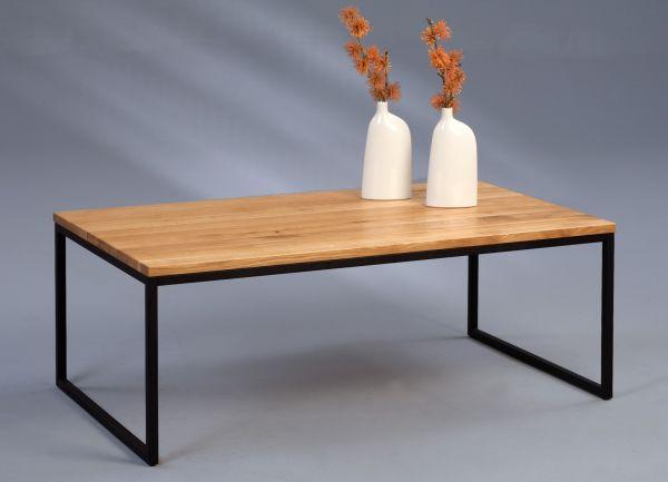Couchtische Beistelltisch - Selma 2 -Wildeiche Massiv 110x60 cm
