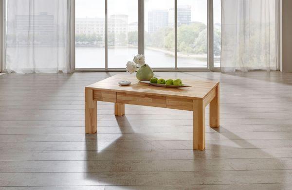 Couchtisch Tisch NICO Eiche vollmassiv /Echtholz 120 x 80 cm