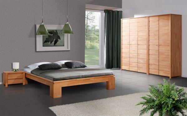 Futonbett Bett Schlafzimmerbet Maison Xl Buche Massiv 100x200 Cm