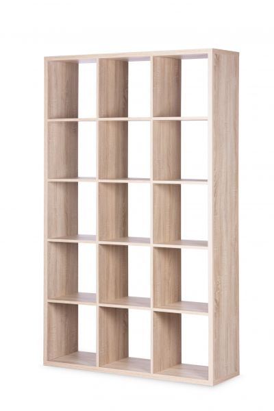 Regal Bücherregal - Domino- / 107 x 176 cm - Sonoma Eiche