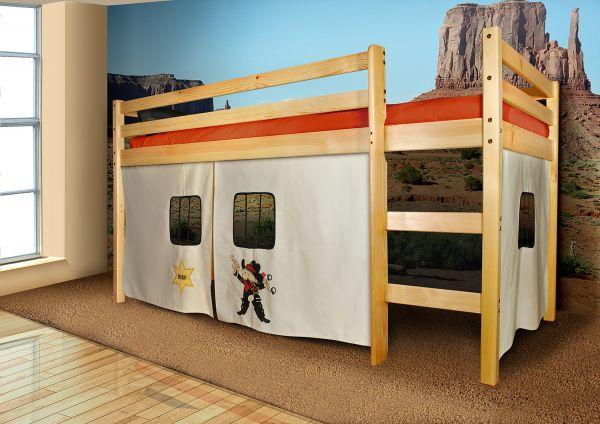 Vorhangset neues Design -SHERIFF- für Hochbet Spielbett Etagenbett