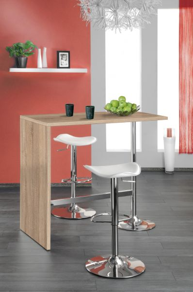 """Party Stehtisch Tisch Bartisch """"Tropic"""" Dekor Sonoma Eiche 120x105x60 cm"""