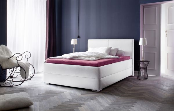 Polsterbett Bett Doppelbett Tagesbett - AUSTIN- 180x200 cm Weiß