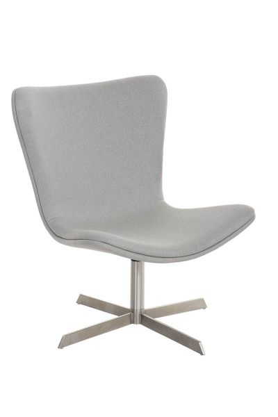 Sessel Coctailsessel Lounger - Andreas - in modernem Design in Hellgrau