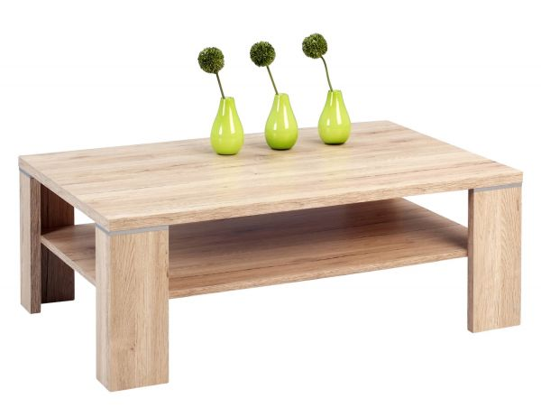 Couchtisch Tisch - London -110x70 cm Sanremo Eiche Sand