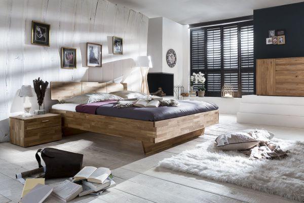 Massivholzbett Schlafzimmerbett - ELO - Bett Wildeiche 180x200 cm
