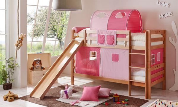Etagenbett Rosa : Kinder doppelbetten etagenbetten mit rutsche mädchen rosa