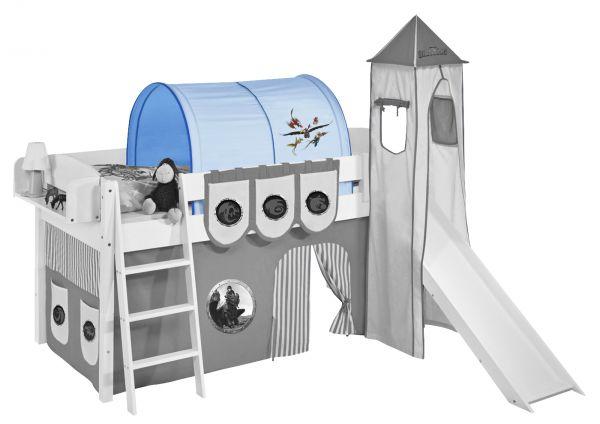 Tunnel Dragons Blau- für Hochbett, Spielbett und Etagenbett
