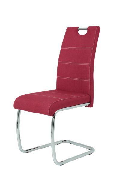 Esszimmerstühle Stühle Freischwinger 2er Set - Gloria- Bordeauxrot