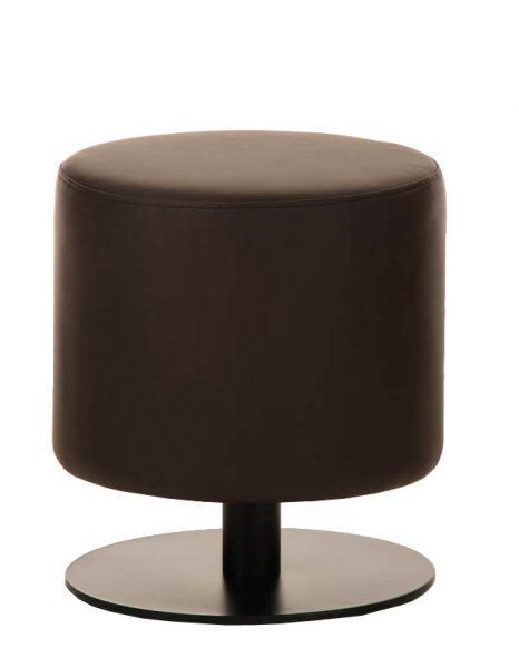 Sitzhocker - Max 2 - Hocker Rundhocker Kunstleder Braun 38x38 cm