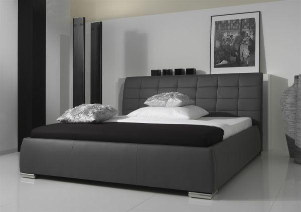 Polsterbett Bett Doppelbett Tagesbett - VERMONT - 180x200 cm Schwarz