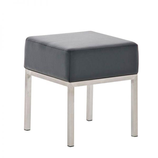 Sitzhocker - LONI 2 - Hocker Sessel Kunstleder Schwarz 40x40 cm