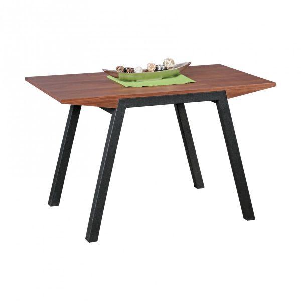 Esstisch Tisch MALIN Vierfußtisch 120x76cm Walnuss-Furnier
