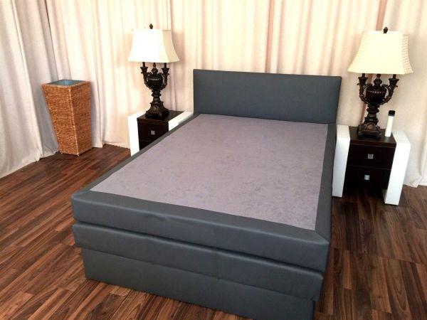 Boxspringbett Schlafzimmerbett SALERNA 90x200 cm inkl.Bettkasten