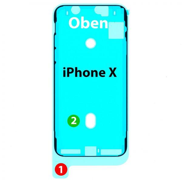 iPhone X Display => Rahmen Kleber