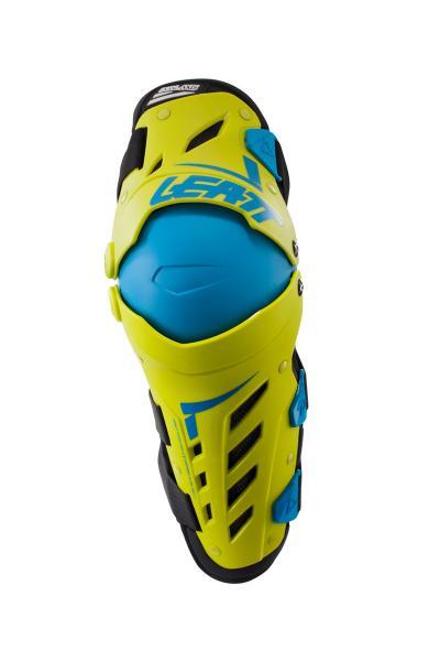 Knie Protektor Dual AXIS lime-blau