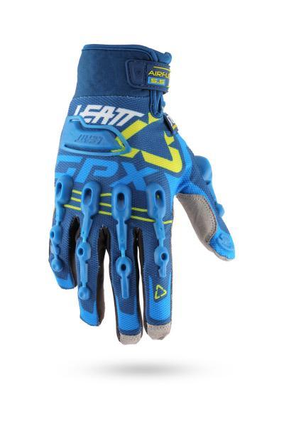 Handschuhe GPX 5.5 Windblock blau-gelb-weiss