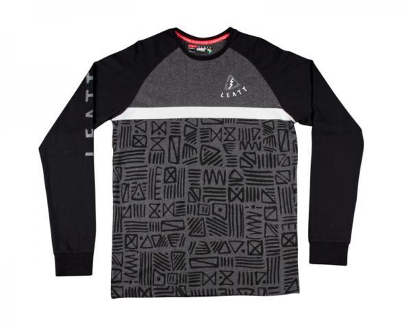 Shirt Tribal lang schwarz-grau XL