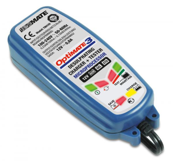 OptiMate 3 Ladegerät mit Entsulfatierung