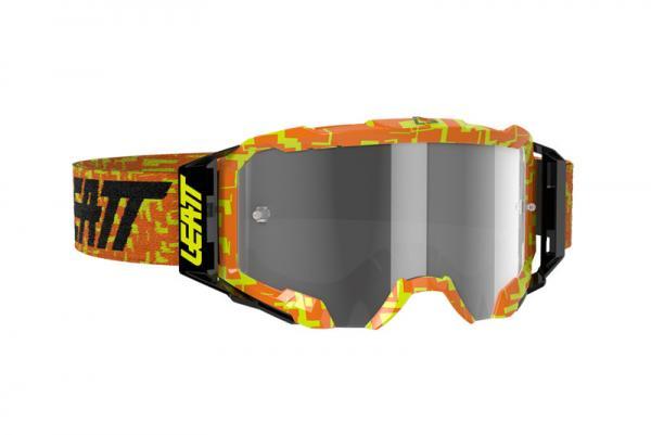 Brille Velocity 5.5 neon orange-hellgrau