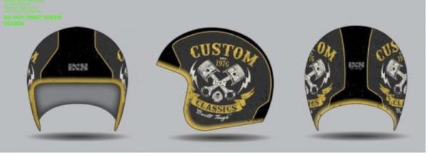 Jethelm HX 77 Custom silber matt-schwarz