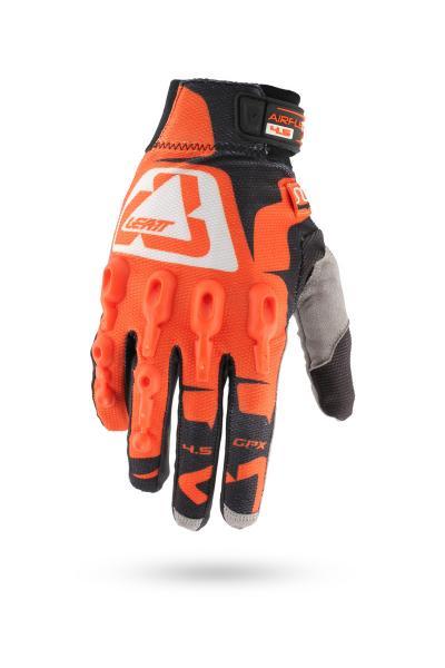 Handschuhe GPX 4.5 Lite orange-schwarz-weiss