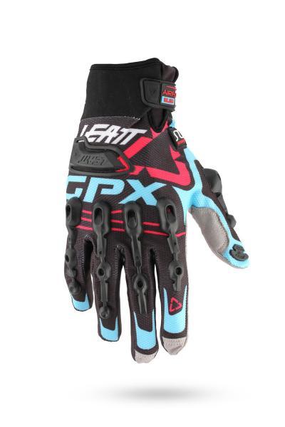 Handschuhe GPX 5.5 Windblock schwarz-blau-rot