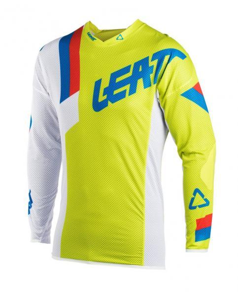 MX Shirt GPX 3.5 Junior lime-weiss L