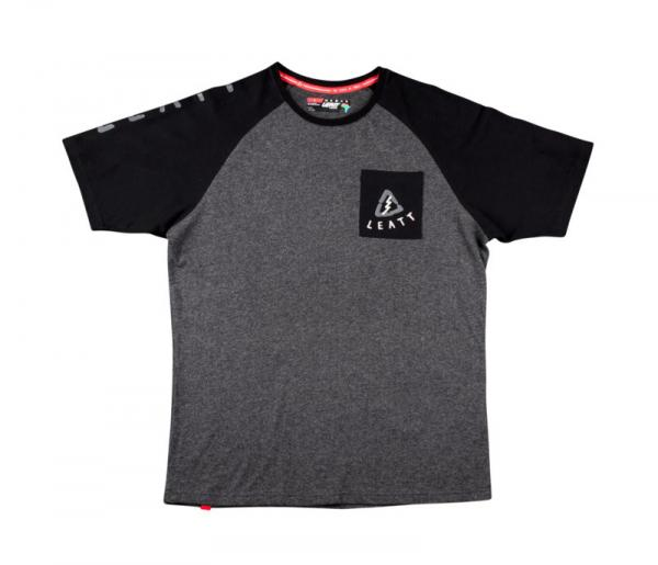 T-Shirt Tribal schwarz-grau