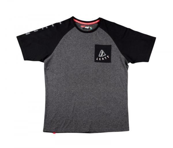 T-Shirt Tribal schwarz-grau L