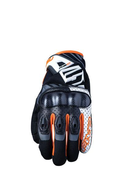 Handschuhe RS-C weiss-orange fluo