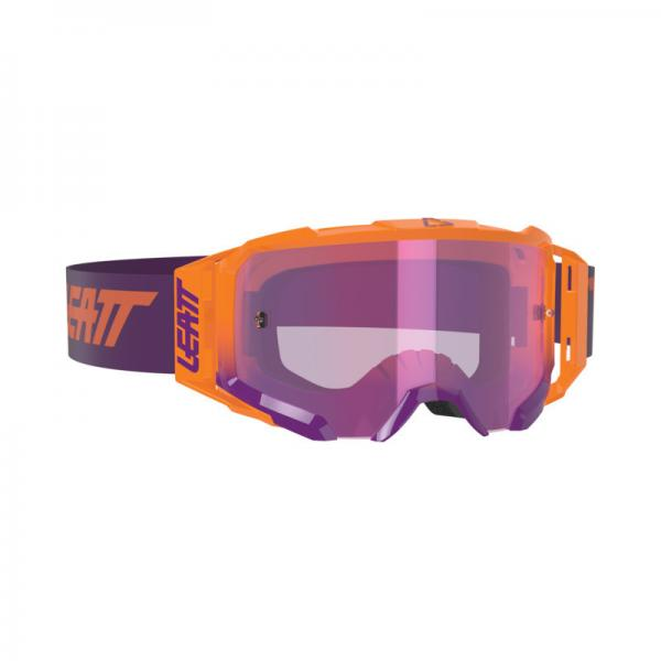Brille Velocity 5.5 Iriz neon orange-purple verspiegelt