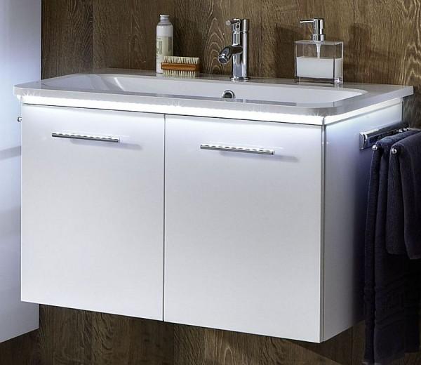 Marlin Bad 3020 - Life Waschtisch mit Unterschrank 80 cm breit, mit 2 Türen