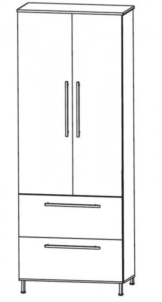 Puris Quada Bad-Hochschrank 60 cm breit HNA086A4S