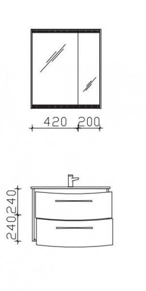 Pelipal Solitaire 7025 Badmöbel Set 73 cm breit - 5.5