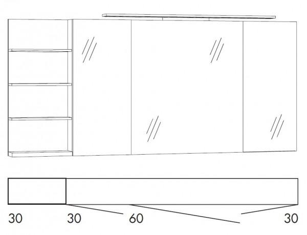 Marlin Bad 3160 - Motion Spiegelschrank 150 cm breit SFLSR363/SFLSR363LS/SFLZR363/SFLZR363LS