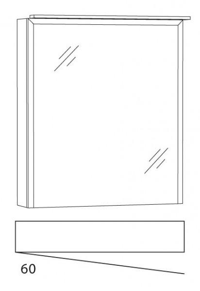 Marlin Bad 3150 - Loop Spiegelschrank 60 cm breit SWIA6LL / SWIA6RR