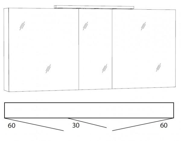 Marlin Bad 3090 – Cosmo Spiegelschrank 150 cm breit SSFGS636