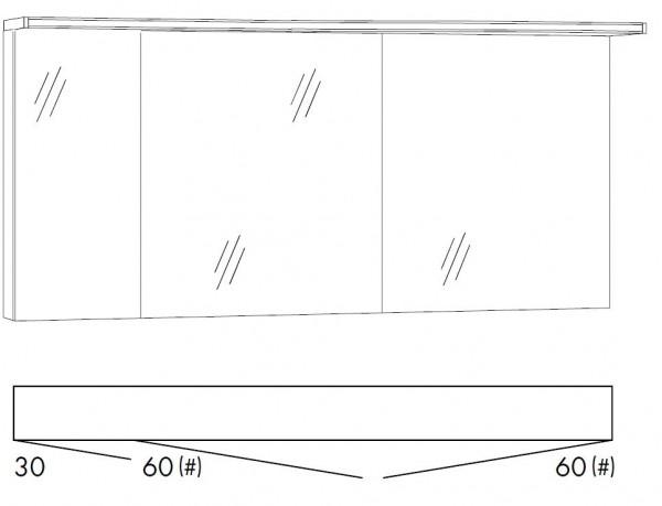 Marlin Bad 3160 - Motion Spiegelschrank 150 cm breit SOBS366
