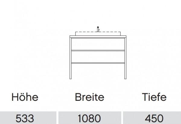 Pelipal Solitaire 9025 Waschtisch mit Unterschrank 108 cm / Aufsatzbecken / Unterschrank mit Regal