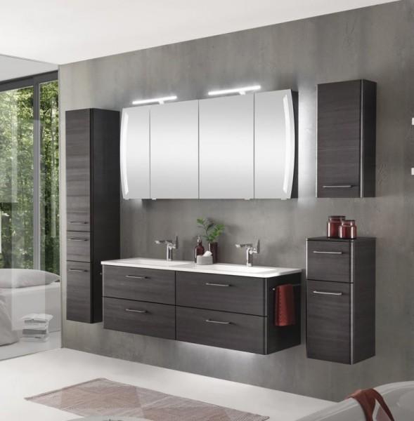 Pelipal Solitaire 7035 - Badmöbel Set / 140 cm breit - Doppelwaschtisch und Spiegelschrank