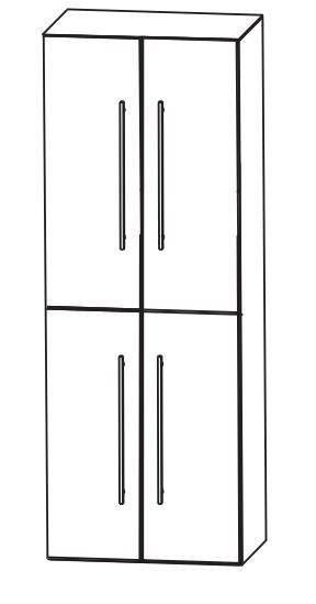 Puris Fine Line Bad-Hochschrank 60 cm breit HNA0360