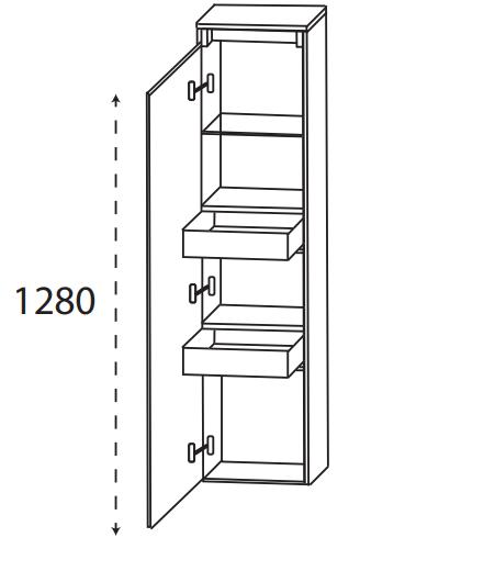 Puris Xpression - Mittelschrank MNA843DGL - 30 cm