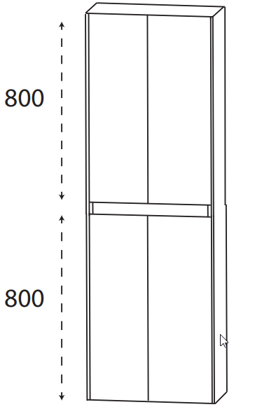Puris Xpression - Hochschrank HNA036DGL - 60 cm