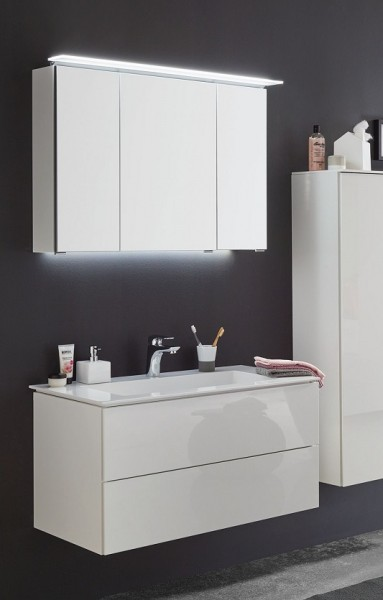 Puris Slim Line Badmöbel Set 91,2 cm breit kombinierbar